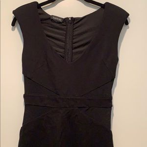 Bebe Bodycon Dress with Mesh Side Cutouts Size XS